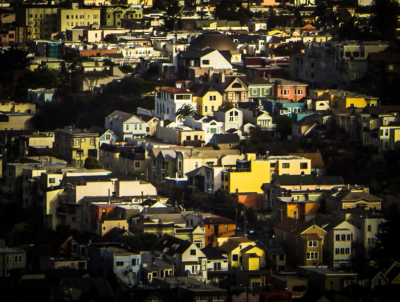 Homes of SFTaken from a peak in SF, using some diarama settings.