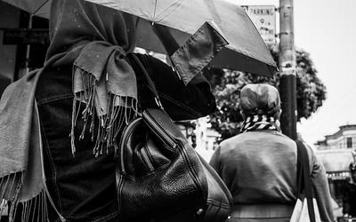 Rain Drops on an Umbrella