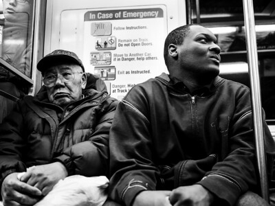 Two men on the CTA